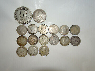 Lot of 17 Early 1900's Canada Silver Coins - You Grade Them (#Acb4)