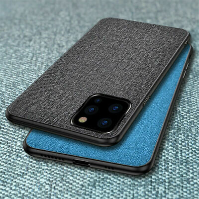 Soft TPU Ultra Slim For Apple iPhone 11 Pro Max Hybrid Fabric Phone Case Cover