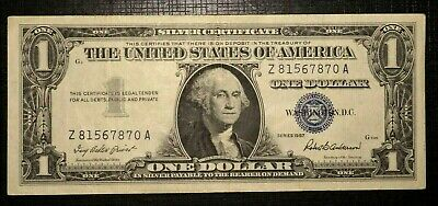 1957 Silver Certificate Blue Seal 1 Dollar  UNITED STATES. (238K)