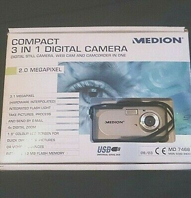 MEDION MD 7466 Digital Camera 2003.MINT & AccesSories For Collector.