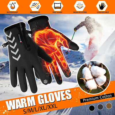 Men Women Winter Warm Gloves Windproof Waterproof Thermal Touch Screen Mittens