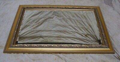 nice quality antique style gilded pine wall mirror overmantle overmantel mirror