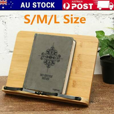 Adjustable Bamboo Reading Rest Rack Tablet Book Holder Cookbook Stand Page Fixed