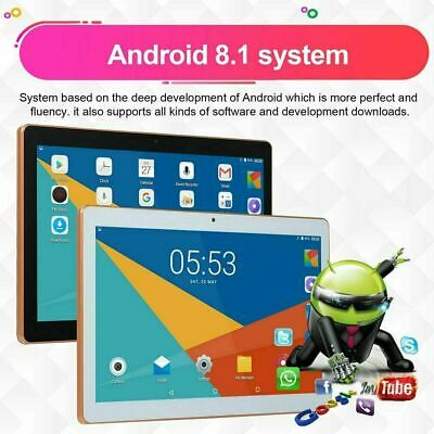 """10.1"""" Android 8.1 Tablets PC 6+64GB SIM Cameras WIFI Bluetooth HD Touch Screen"""