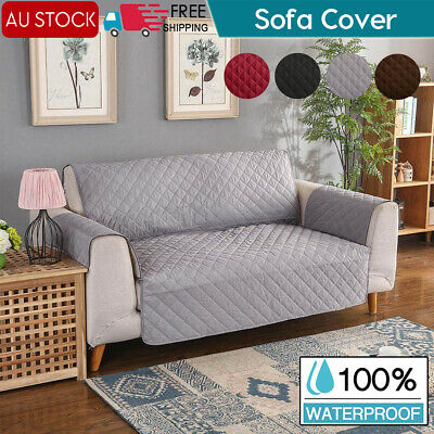 Sofa Cover Quilted Couch Covers Lounge Protector Slipcovers 1/2/3 Seat Pet Dog