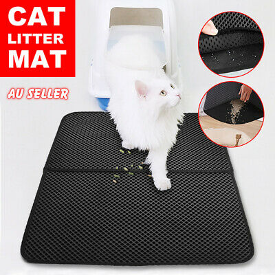 Home Pet Cat Litter Mat Double Layer Pad Large Flexible Trapping for litter Box