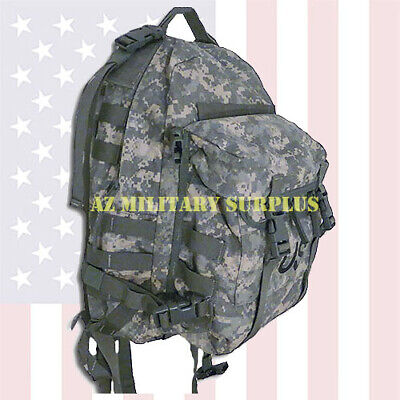 Us Military Assault Pack Heavy Duty Three Day Molle Ii Acu Backpack +Free Usps!