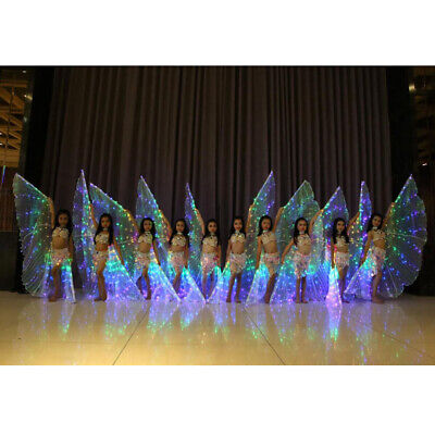 5x Belly Dance LED Isis Wing Glow Light Up Wing Egyptian Performance Costume