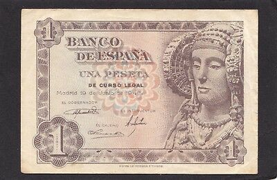 3RW 26DES SPAIN 1 PESETAS 1948 P 135 F-VF CONDITION