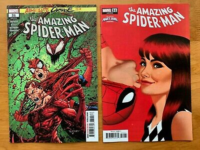 Amazing Spider-Man 31 Ottley Main Cover A + Mary Jane Variant Set Marvel 2019 NM