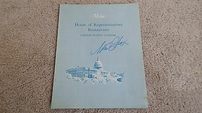 RARE Vintage Signed HOUSE OF REPRESENTATIVES Restaurant SOUVENIR Menu March 1971