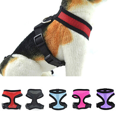 Puppy Dog Walk Collar Soft Mesh Safety Strap Vest Pet Control Harness Adjustable