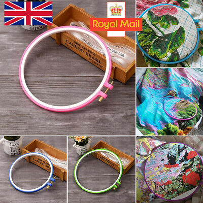 DIY Plastic Embroidery Cross Stitch Tapestry Ring Hoop Frame Sewing Tools New
