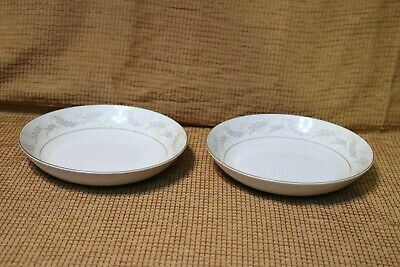 "Mikasa Fine China - PATIO - 5278 - Narumi - Japan - 7 1/2"" Soup Bowls (2)"