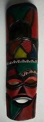 Used, Hand Carved Wooden, South African Mask, Circa : 2000'S . . .