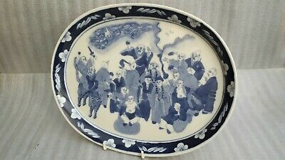 Antique Chinese Blue White  Porcelain  Tray