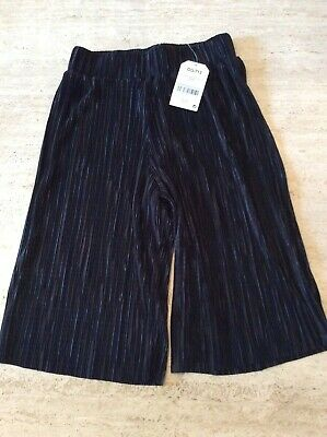 NEXT Black culottes style trousers girl age 5 years BNWT