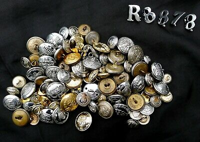 Bulk Collection 93 Old Fire Brigade Buttons, Police Service Buttons & Others Etc