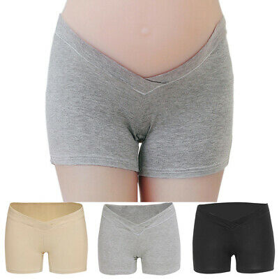 Comfy Underwear Short Panties Soft Solid V-shape Womens Pregnant Cotton