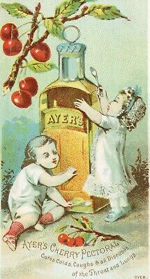 AyersCherry Pectoral Trade Card. Patent Medicine.