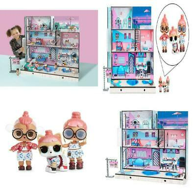 Surprises Wooden Multi Story Interactive Toy L.O.L Hangout Doll House 85 L.O.L