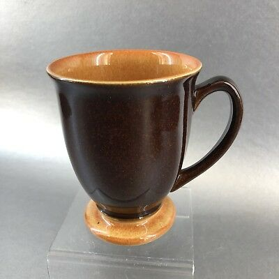 Denby Spice Coffee Mug Cup Stoneware England MINT Pottery Yellow Brown