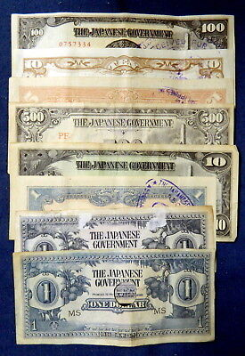 Bulk Lot WWII Japanese Invasion Money JIM JAPWANCAP x8