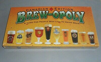 Brewopoly Canadian Edition Beer Brewing Monopoly Board Game COMPLETE SEALED NEW