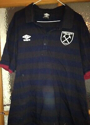 West Ham United Mens/Ladies Umbro Polo Shirt Xxxl 3Xl Blue Hammers Icf England