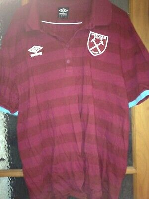 West Ham United Mans/Ladies Umbro Polo Shirt Xxxl 3Xl Claret Hammers Icf England