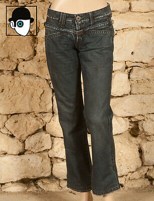 'Marithe Et Francois Girbaud' Distressed Low Rise Jeans - Uk 12 - (Z)