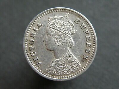 INDIA - QUEEN VICTORIA 1888 SILVER TWO ANNAS COIN - Good Quality Coin (OS01)