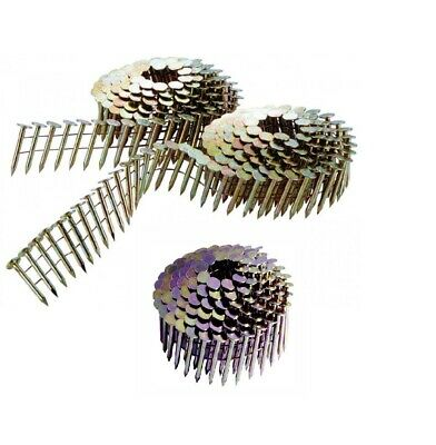 """3 Coils ROOFING NAILS 15° Galvanized Wire Collated 1-1/4""""  Porter-Cable Paslod"""
