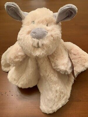 LUXE BABY NWT gray Lovey~Plush Bunny~Security Blanket~NEW~KellyToy~Rattle~ K