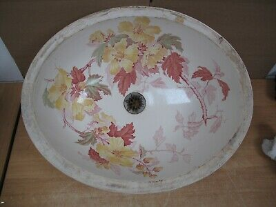Antique Sink 1890 Porcelain Cuspidor Basin England T.C. Brown, Westhead & Moore