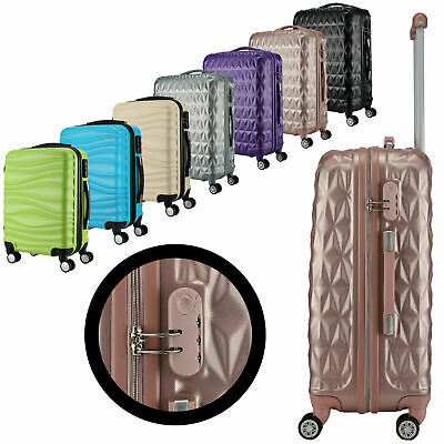 """Clerance Small Cabin Hand Luggage Suitcase Spinner Trolley Case Bag 4 wheels 20"""""""