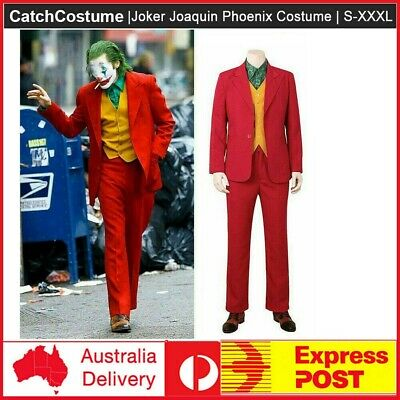 Joker 2019 Joaquin Phoenix Arthur Fleck Cos Costume Set Full Suit Mask Halloween