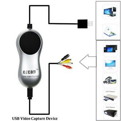 USB2.0 Video Capture V8 Hi8 DVD VHS DVR Adapter Recorder Converter to Digital h