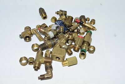 Mixed Lot of Brass Couplings, Fittings Control Valves