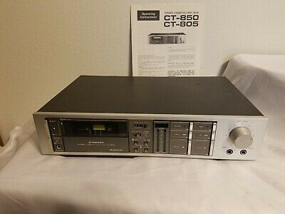 Vintage PIONEER CT-850 Stereo Cassette Tape Deck w/ Manual