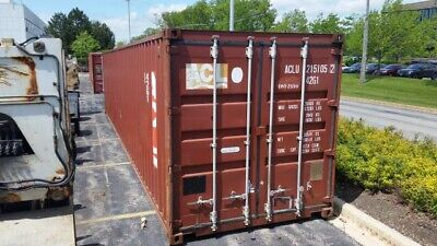 40' 40 Foot Storage Container Unit   Shipping Container ( Moving ) Lift Works