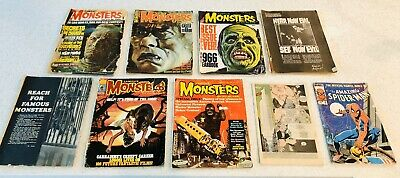 9 MAGAZINES LOT FAMOUS MONSTERS OF FILMLAND POOR SHAPE + Spider-Man & Punisher