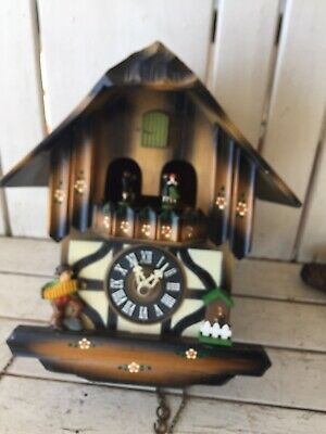 German made Vintage Musical Dancer 1 Day Cuckoo Clock Estate Find Not Tested