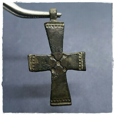 ** CROSS ** ANCIENT BRONZE BYZANTINE PENDANT!!! 5,62 g