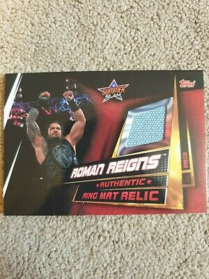 WWE Slam Attax Universe Limited Edition Ring Mat Relic Card Roman Reigns Topps