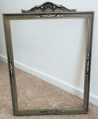 Vintage 1920's Art Deco Wood 11 x 14 Silver Gray Old Antique Picture Frame