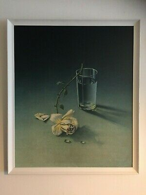 ORIGINAL RARE Tretchikoff Weeping Rose 1969 Vintage Kitsch Print On Board Boots