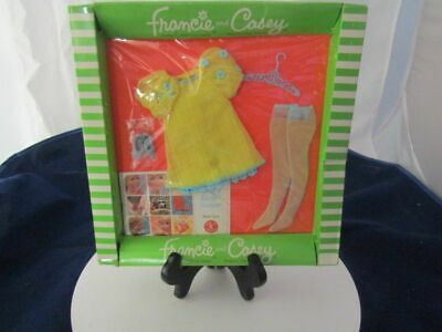Vintage 1969 Barbie Doll -Francie And Casey #1223 The Yellow Bit Outfit New In P