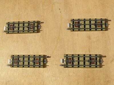 Four Vintage Hornby Dublo 3R 3703 Quarter Straight Rails In Very Good Condition.