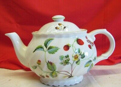 Vintage James Kent Old Foley Strawberries & Butterflies Teapot with Lid